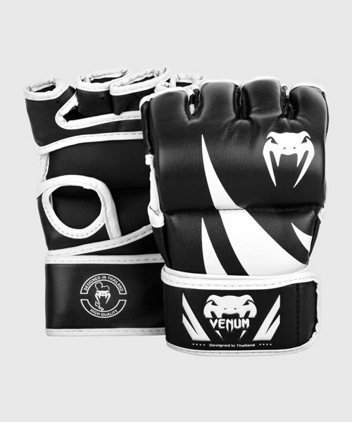 Picture of MMA Gloves Challenger No Thumb Black/White