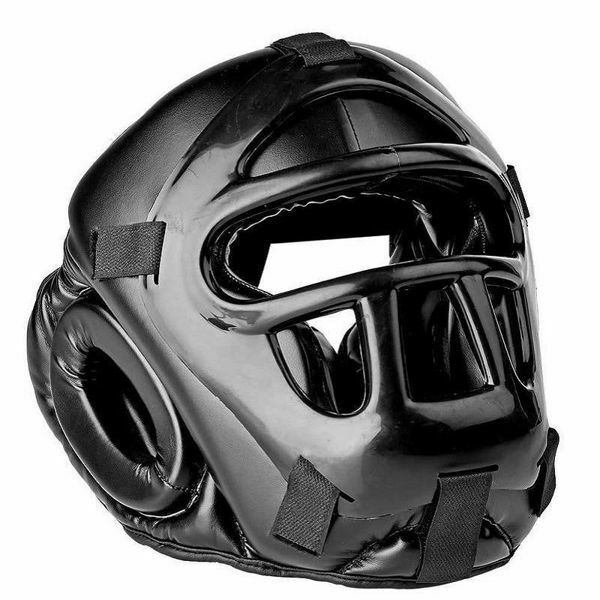Picture of Head Guard With Face Mask Black