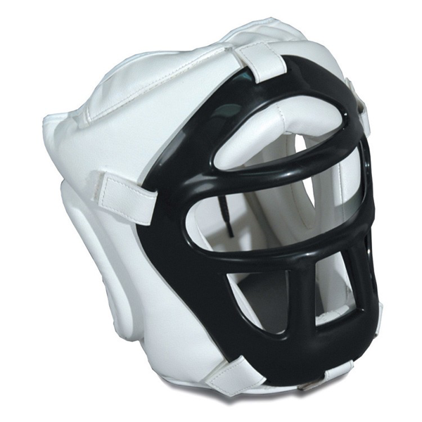 Picture of Head Guard With Face Mask White