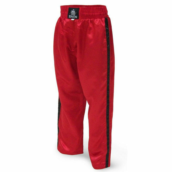 Picture of Kickboxing Pants Red With 2 Black Stripes