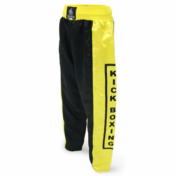 Picture of Kickboxing Pants Black/Yellow