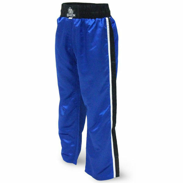 Picture of Kickboxing Pants Blue With BK/W Stripes